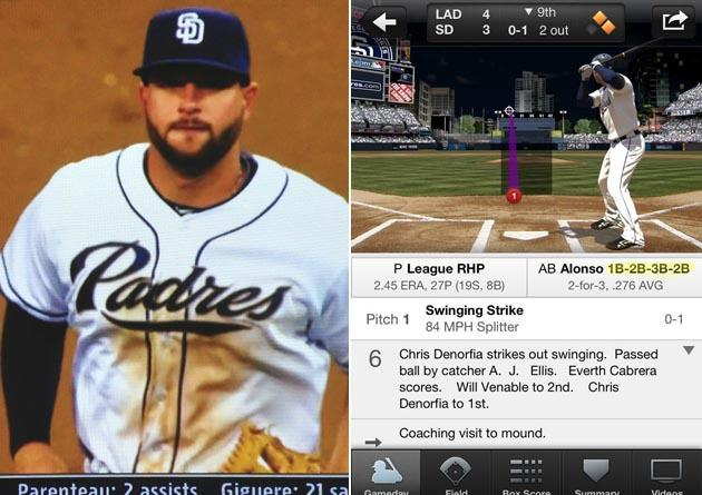 Yonder Alonso Switches First Second Third Back Second 075000672 Mlb on oscar de la hoya padres