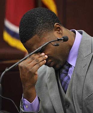 Cory Batey testifies in his own defense during the his trial Monday, Jan. 26, 2015, in Nashville, Tenn. (AP Photo/Larry McCormack, Pool)