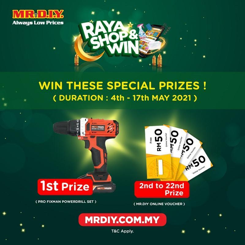 Shop at MR.DIY stores and win attractive prizes until May 17. ― Picture courtesy of MR.DIY