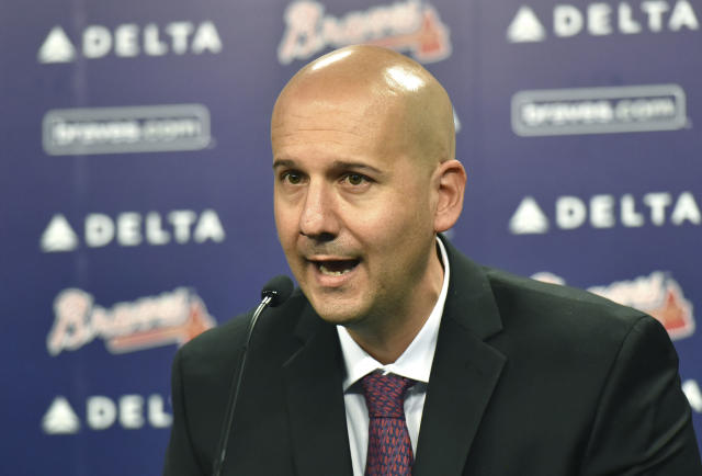 MLB banned former Braves GM John Coppolella for life. (Hyosub Shin/Atlanta Journal-Constitution via AP, File)