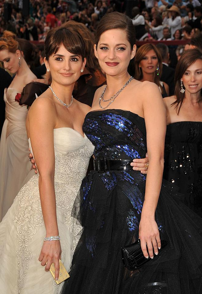 Penelope Cruz and Marion Cotillard at the 81st Annual Academy Awards - Feb. 22, 2009