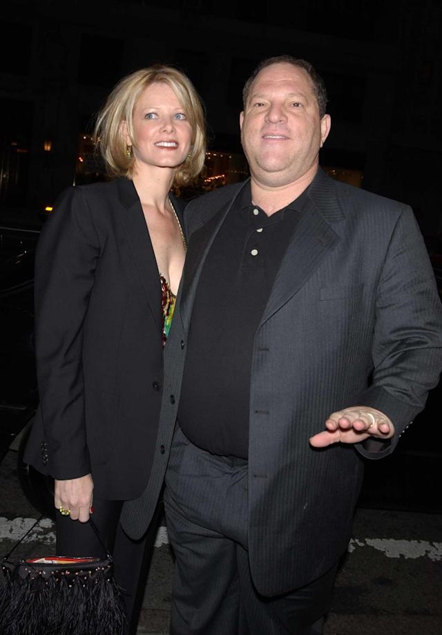 Eve Chilton and Harvey Weinstein in April 2002. (Photo: Getty Images)