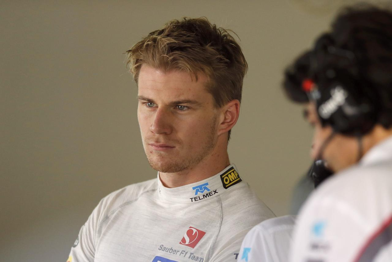 Sauber Formula One driver Nico Hulkenberg of Germany attends the first practice session of the Japanese F1 Grand Prix at the Suzuka circuit October 11, 2013. REUTERS/Issei Kato (JAPAN - Tags: SPORT MOTORSPORT F1)