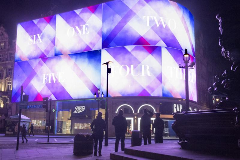The Piccadilly Circus lights were turned on again today after they went dark for a major upgrade: Jeremy Selwyn