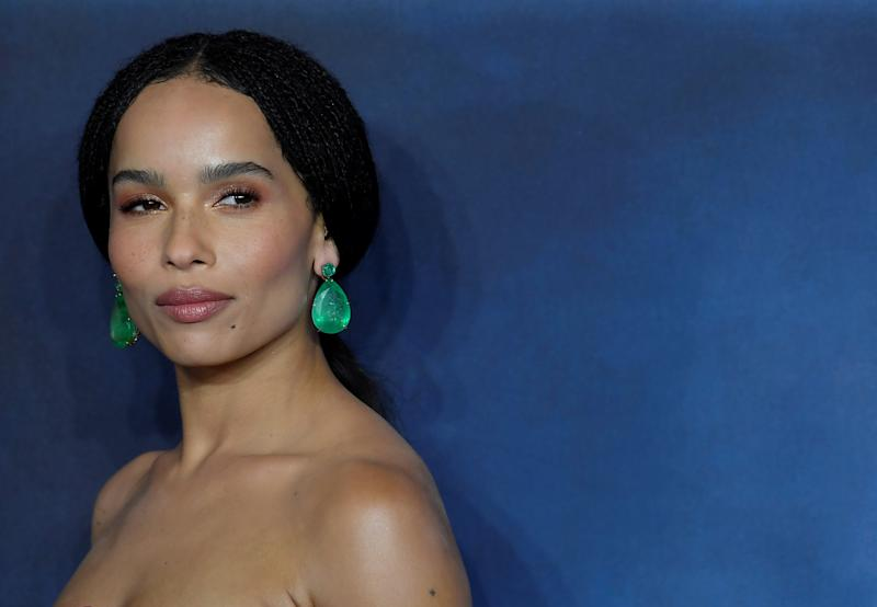 Actor Zoe Kravitz attends the British premiere of 'Fantastic Beasts: The Crimes of Grindelwald' movie in London, Britain, November 13, 2018. REUTERS/Toby Melville