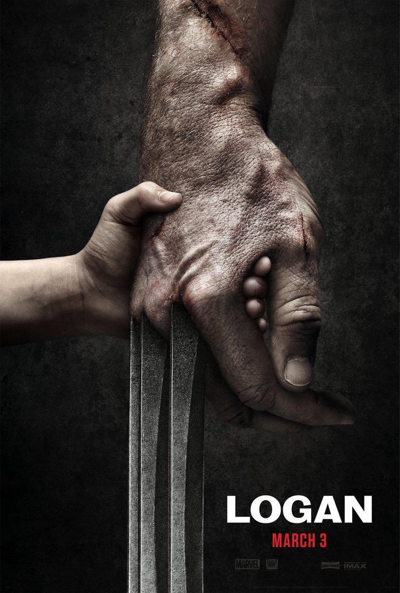 <p>The film's poster art shows a small child's hand holding the battle-scarred hand of Wolverine, his adamantium claws fully extended.(Photo: @mang0ld/Twitter) </p>