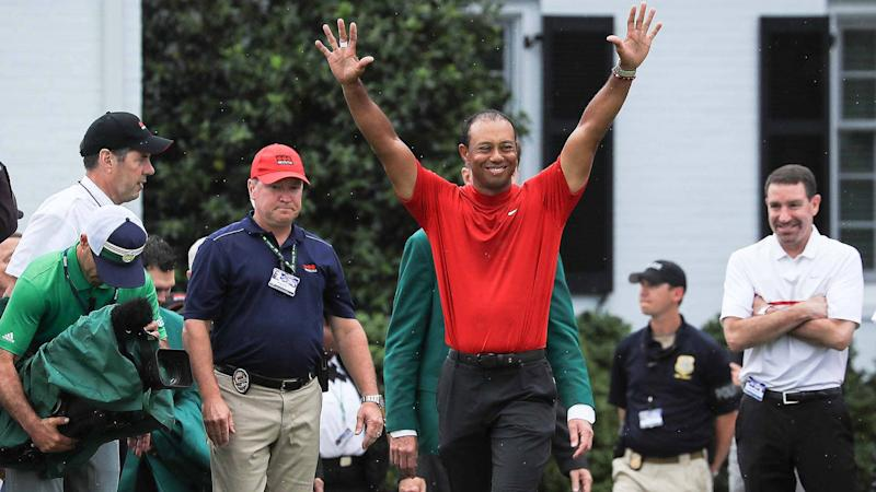 Couple to name child 'Tiger' after bet over Masters outcome