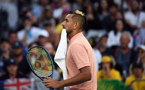 Kyrgios takes early control of the match - Credit: AFP