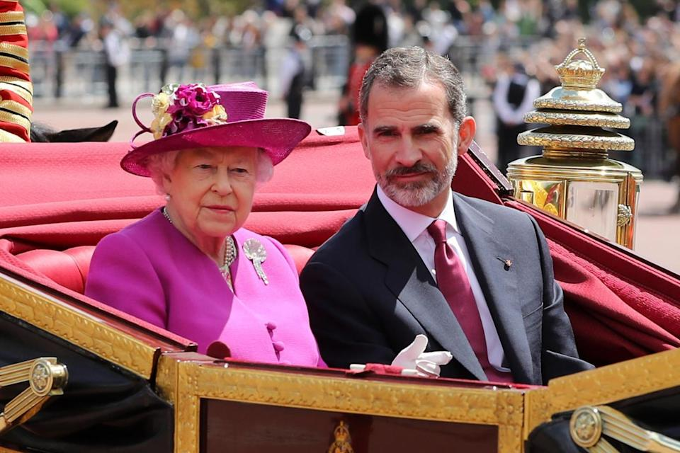 Her Majesty the Queen and King Felipe of Spain (PA)