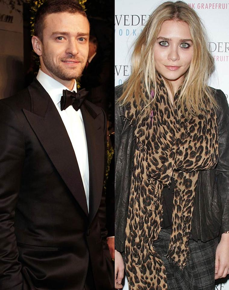"""Justin Timberlake and Ashley Olsen are """"hooking up,"""" reports <i>Us Weekly</i>. According to the mag, even though Timberlake and Olsen have known each other for years, """"a spark was ignited in recent weeks when both found themselves in NYC at the Greenwich Hotel."""" <i>Us Weekly</i> notes the two are """"really trying to keep it on the down-low."""" For how serious they've already become, and when they plan to go public, read what a Timberlake confidante shares with <a href=""""http://www.gossipcop.com/justin-timberlake-ashley-olsen-hooking-up-dating/"""" target=""""new"""">Gossip Cop</a>. Getty Images North America//WireImage.com"""