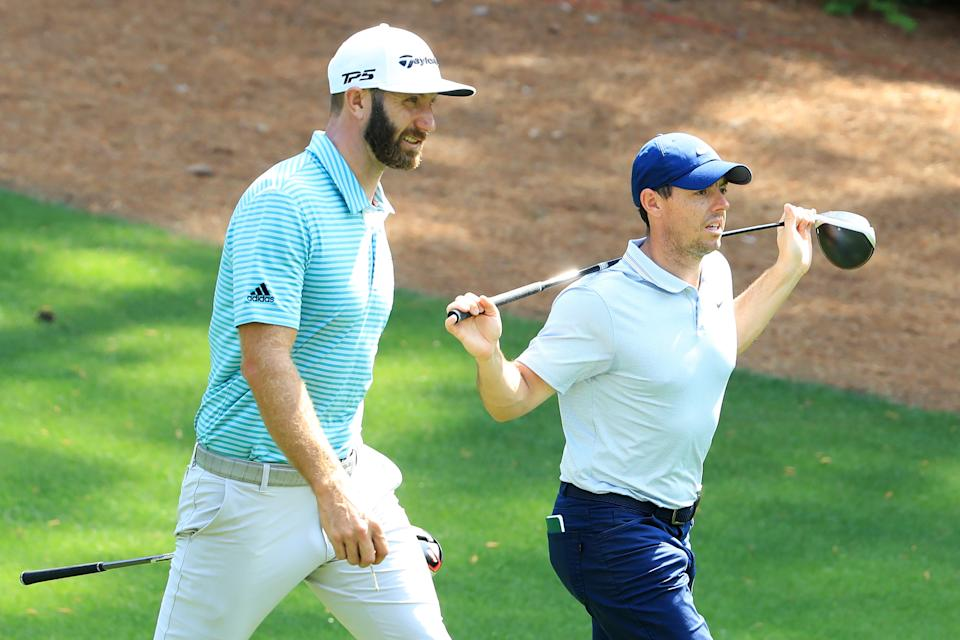 Rory McIlroy and Dustin Johnson form a formidable duo. (Andrew Redington/Getty Images)