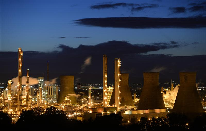 A general view of the Grangemouth oil refinery in east Scotland