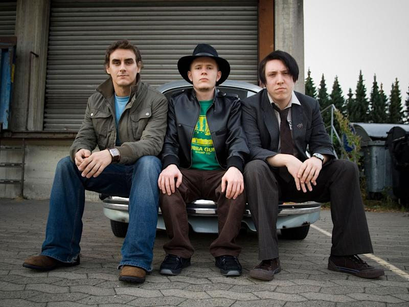 Reuben pictured just before the release of In Nothing We Trust, from left to right, Jon Pearce (bass), Guy Davis (drums) and Jamie Lenman (vocals / guitar): Garvin Nolte