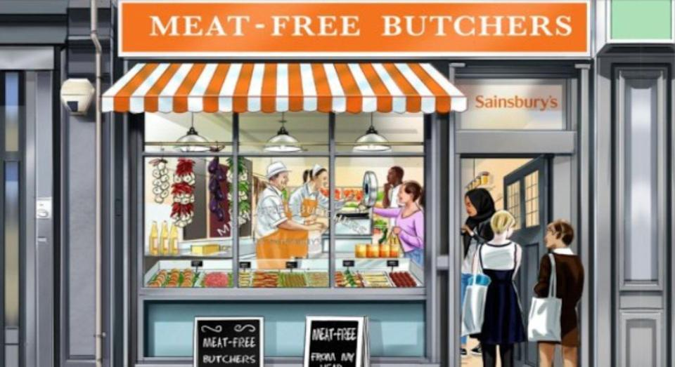 The store's pop-up will launch in time for World Meat Free Week. [Photo: Sainsbury's]