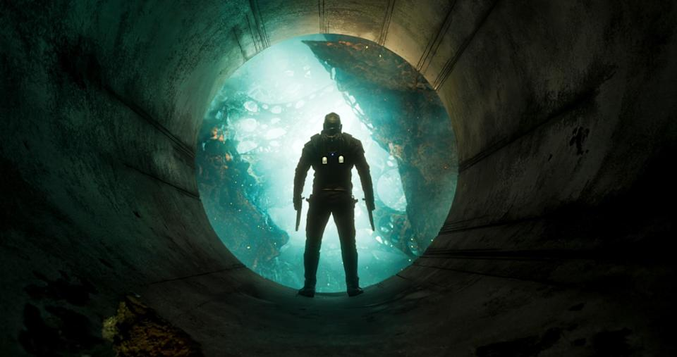 <p>Peter Quill stares into the abyss of space, looking for his father, Ego the Living Planet (Kurt Russell). (Photo: Marvel) </p>