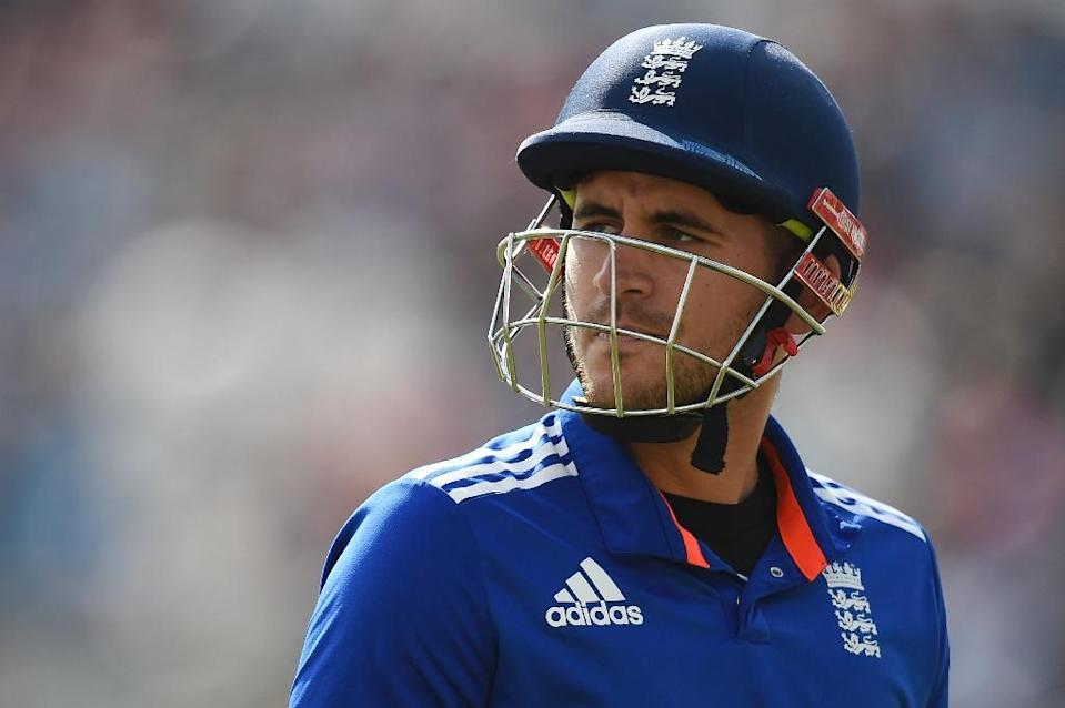 England's Alex Hales scored his first one-day international century in the second ODI against Pakistan in Abu Dhabi (AFP Photo/Paul Ellis)