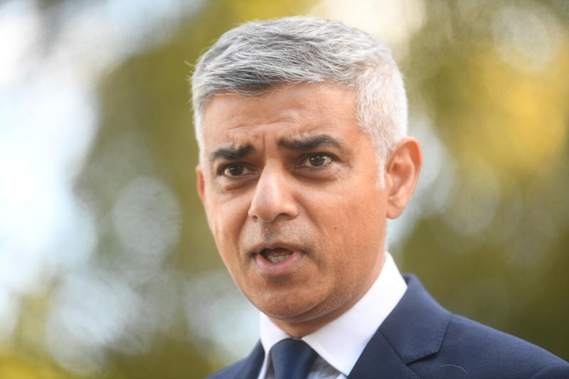 Mayor of London Sadiq Khan speaks to media at New Scotland Yard, London, following the death of a police officer who was shot by a detainee at Croydon Custody Centre in south London in the early hours of Friday morning.