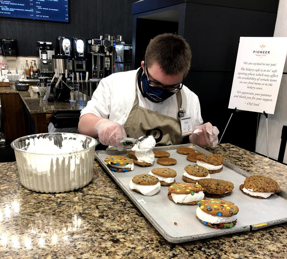Aside from cookies, Derek also recommends everyone try Pioneer's gooey butter cake. (Courtesy Lafayette Industries)