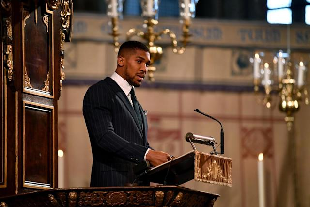 Joshua spoke during the annual Commonwealth Service at Westminster Abbey on March 9: POOL/AFP via Getty Images