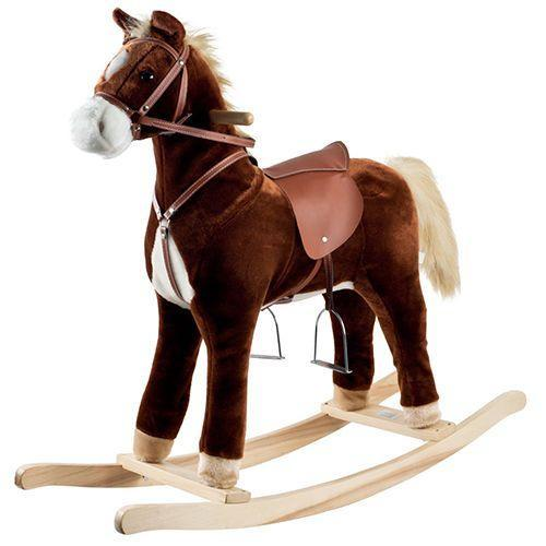 """<p><strong><em>Happy Trails Plush Rocking Horse</em></strong><strong><em> $70</em></strong> <a class=""""link rapid-noclick-resp"""" href=""""https://www.amazon.com/Happy-Trails-Plush-Rocking-Horse/dp/B004TLVLFE/?tag=syn-yahoo-20&ascsubtag=%5Bartid%7C10050.g.35033504%5Bsrc%7Cyahoo-us"""" rel=""""nofollow noopener"""" target=""""_blank"""" data-ylk=""""slk:BUY NOW"""">BUY NOW</a></p><p>The classic wooden rocking horse has been a staple in the lives of children for hundreds of years, and it became widely popular in the United States in the early 1900s. A rendition of the early hobby horse toy, the introduction of bow rockers made these beautiful (and fun!) designs possible.</p><p><strong>More:</strong> <a href=""""https://www.bestproducts.com/parenting/kids/g384/best-kids-teepee-tents/"""" rel=""""nofollow noopener"""" target=""""_blank"""" data-ylk=""""slk:Teepee Tents Your Kids (and You!) Will Obsess Over"""" class=""""link rapid-noclick-resp"""">Teepee Tents Your Kids (and You!) Will Obsess Over</a></p>"""