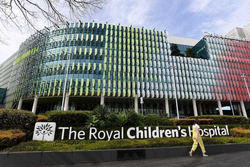Signage for the Royal Children's Hospital is seen in Melbourne.
