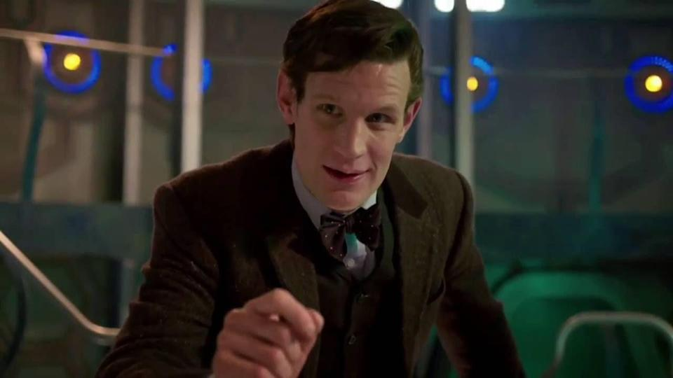 Eleventh Doctor speaks to camera