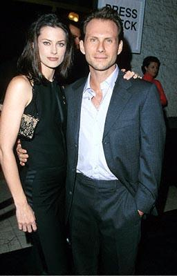 """Premiere: <a href=""""/movie/contributor/1800026672"""">Christian Slater</a> with his wife Ryan at the Mann National Theater premiere of Dreamworks' <a href=""""/movie/1800421220/info"""">The Contender</a> - 10/5/2000<br><font size=""""-1"""">Photo by <a href=""""http://www.wireimage.com"""">Steve Granitz/wireimage.com</a></font>"""