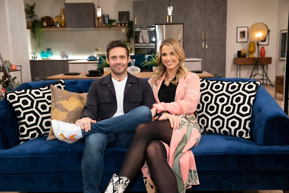 Spencer Matthews and wife Vogue Williams on 'This Is My House.' (BBC)