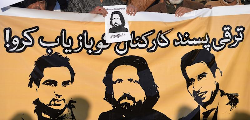 Faces of some of the five liberal activists who disappeared in Pakistan earlier this month -- no one has claimed responsibility