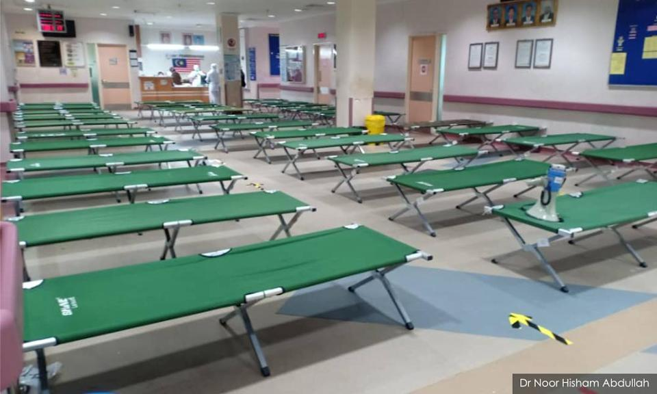 Outpatient areas, housemen quarters repurposed to hold hospital beds