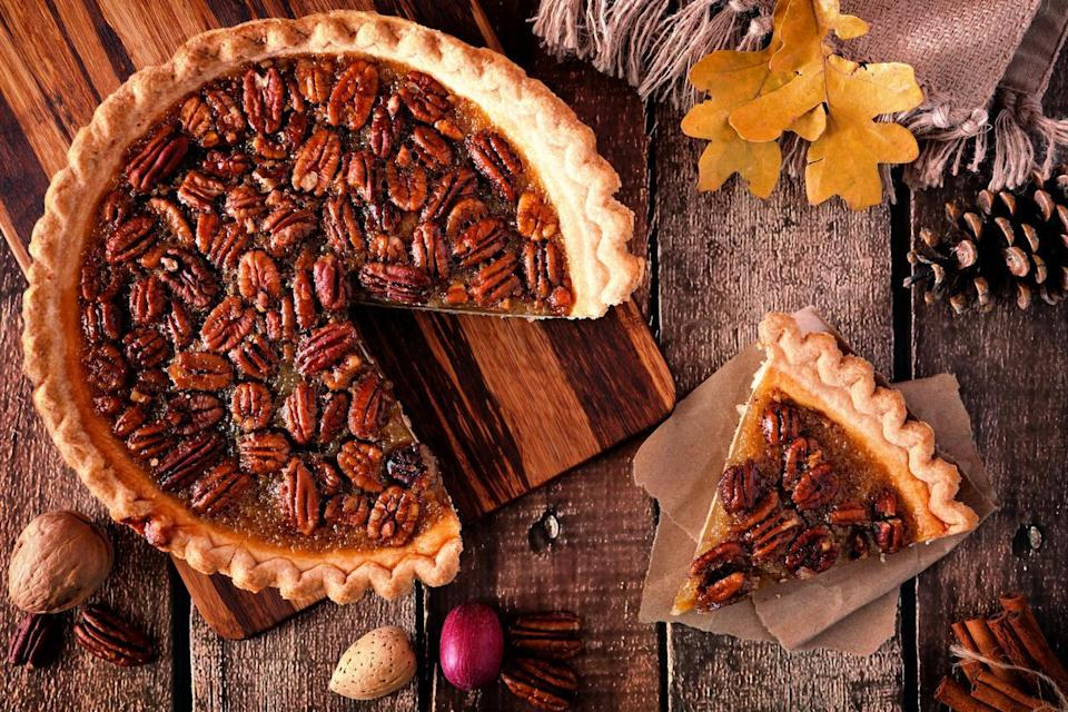 "<p>Everything's bigger in Texas, including the state's devotion to pecans. Not only are pecans the Lone Star State's official nut, but pecan trees are also grown commercially on about 70,000 acres in the state. Pair <a href=""https://www.thedailymeal.com/recipes/pecan-pie?referrer=yahoo&category=beauty_food&include_utm=1&utm_medium=referral&utm_source=yahoo&utm_campaign=feed"" rel=""nofollow noopener"" target=""_blank"" data-ylk=""slk:pecan pie"" class=""link rapid-noclick-resp"">pecan pie</a> with <a href=""https://www.thedailymeal.com/classic-texas-recipes?referrer=yahoo&category=beauty_food&include_utm=1&utm_medium=referral&utm_source=yahoo&utm_campaign=feed"" rel=""nofollow noopener"" target=""_blank"" data-ylk=""slk:more iconic Texas recipes"" class=""link rapid-noclick-resp"">more iconic Texas recipes</a>.</p>"