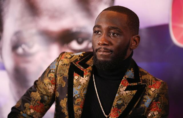 Terence Crawford during a news conference at The Landmark London Hotel, London. (Getty Images)