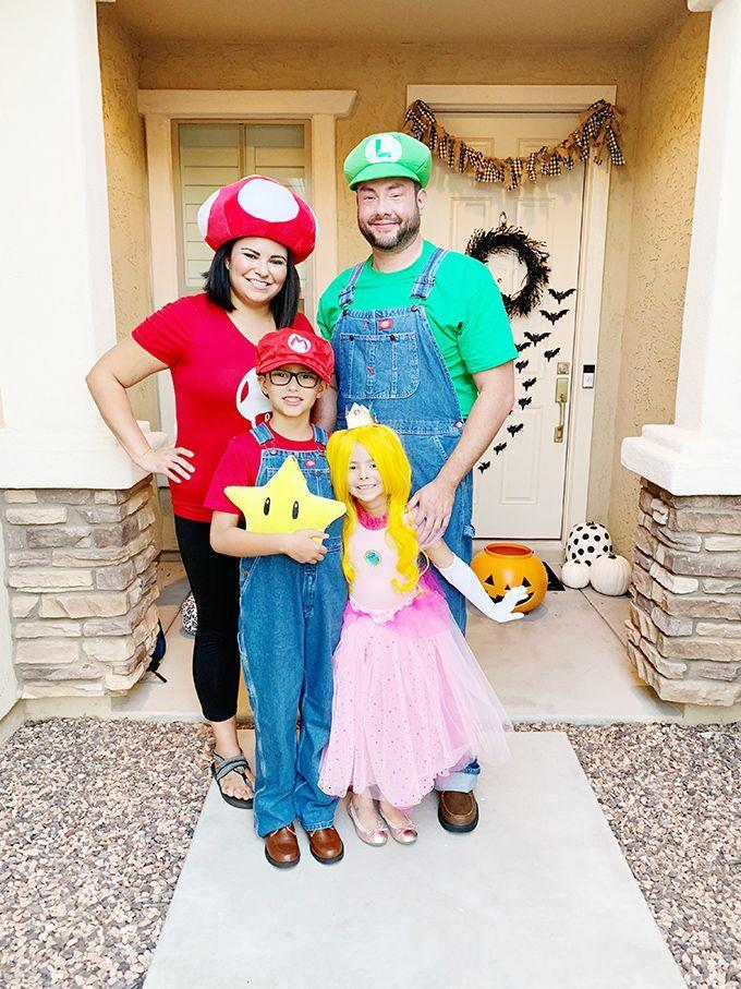 """<p>Each member of the family can tackle their favorite character from the classic video game. There are <a href=""""https://go.redirectingat.com?id=74968X1596630&url=https%3A%2F%2Fwww.halloweencostumes.com%2Fsuper-mario-bros-costumes.html&sref=https%3A%2F%2Fwww.goodhousekeeping.com%2Fholidays%2Fhalloween-ideas%2Fg28106766%2Ffamily-halloween-costumes%2F"""" rel=""""nofollow noopener"""" target=""""_blank"""" data-ylk=""""slk:ready-to-buy costumes"""" class=""""link rapid-noclick-resp"""">ready-to-buy costumes</a> and accessories, in sizes from infant to adult, for multiple characters. Or you can try to DIY your own, like blogger Vanessa Coppola.</p><p><em><a href=""""https://seevanessacraft.com/2019/10/super-mario-family-halloween-costumes/"""" rel=""""nofollow noopener"""" target=""""_blank"""" data-ylk=""""slk:Get the tutorial at See Vanessa Craft »"""" class=""""link rapid-noclick-resp"""">Get the tutorial at See Vanessa Craft »</a></em></p>"""