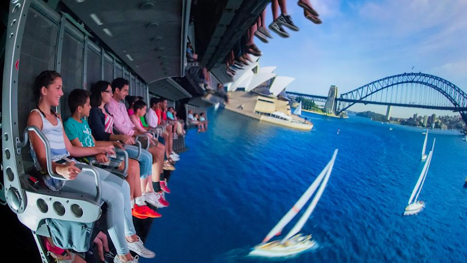 """The Soarin' Around the World attraction takes guests on an exhilarating """"flight"""" above spectacular global landscapes and man-made wonders"""