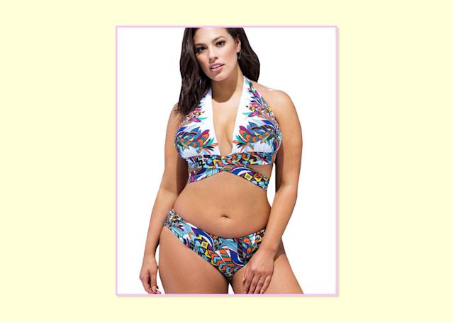 """<p>$88; <a href=""""http://www.swimsuitsforall.com/Ashley-Graham-x-swimsuitsforall-Condesa-Bikini1#rrec=true"""" rel=""""nofollow noopener"""" target=""""_blank"""" data-ylk=""""slk:Swimsuits For All"""" class=""""link rapid-noclick-resp"""">Swimsuits For All</a>. </p>"""