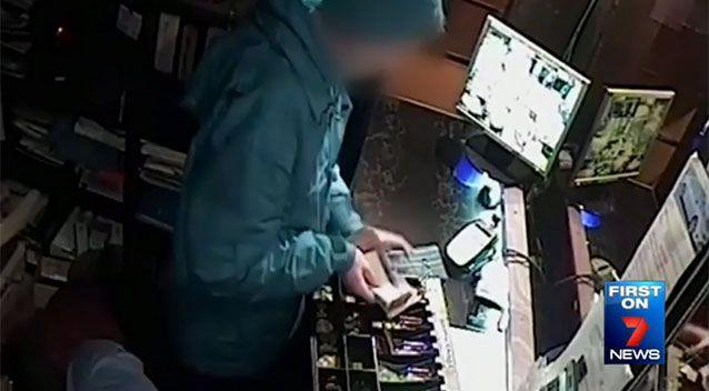 The robbers took $2098 in cash. Source: 7 News