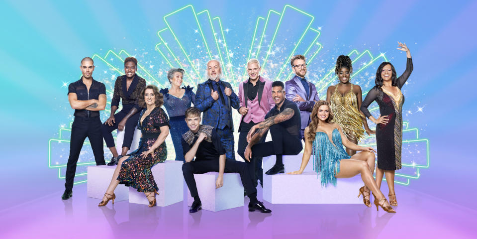 Max George, Nicola Adams, Jacqui Smith, Caroline Quentin, HRVY, Bill Bailey, Jamie Laing, Jason Bell, JJ Chalmers, Maisie Smith, Clara Amfo, Ranvir Singh - (C) BBC - Photographer: Ray Burmiston