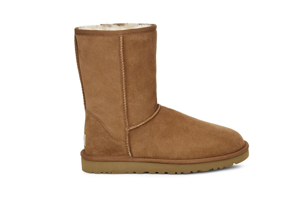 "$170, Ugg. <a href=""https://www.ugg.com/men-boots-classic-boots/classic-short-boot/5800.html?dwvar_5800_color=CHE#start=18&cgid=men-boots-classic-boots"" rel=""nofollow noopener"" target=""_blank"" data-ylk=""slk:Get it now!"" class=""link rapid-noclick-resp"">Get it now!</a>"