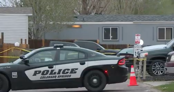 Multiple victims were shot dead at a birthday party in a mobile home in Colorado Springs on 9 May 2021 (Screengrab via KRDO)