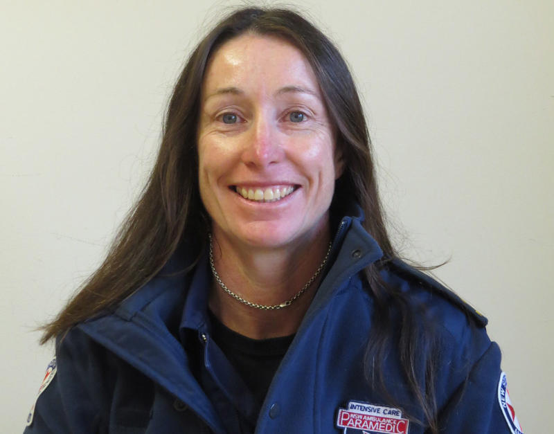 Pictured is NSW ambulance paramedic Dearne Fulcher who suffered fatal injuries when her car was crushed by a tree in the Blue Mountains.