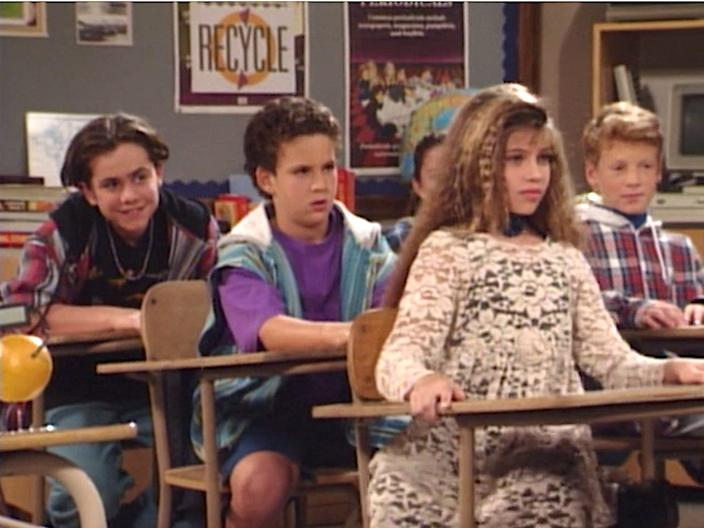 "Rider Strong, Ben Savage, and Danielle Fishel on ""Boy Meets World."""