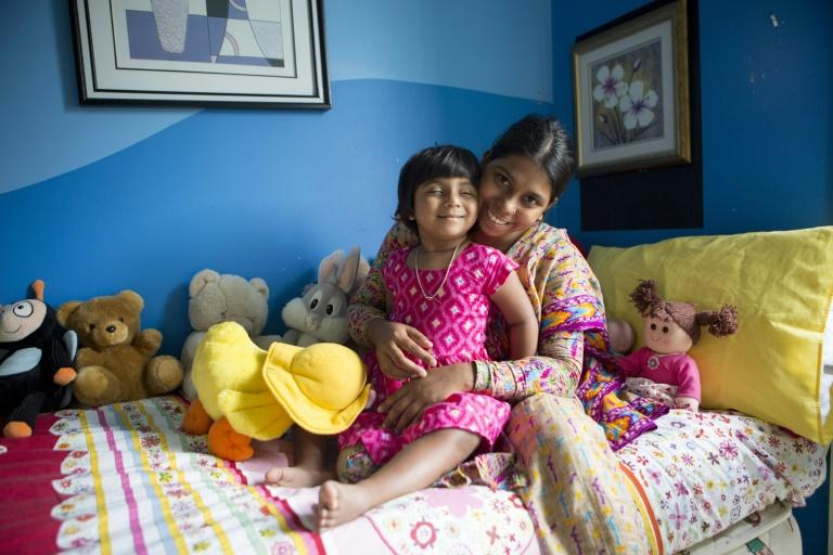 Three-year-old Choity Khatun was given little prospect of survival until she was brought to Melbourne last year by Australian charity Children First Foundation.