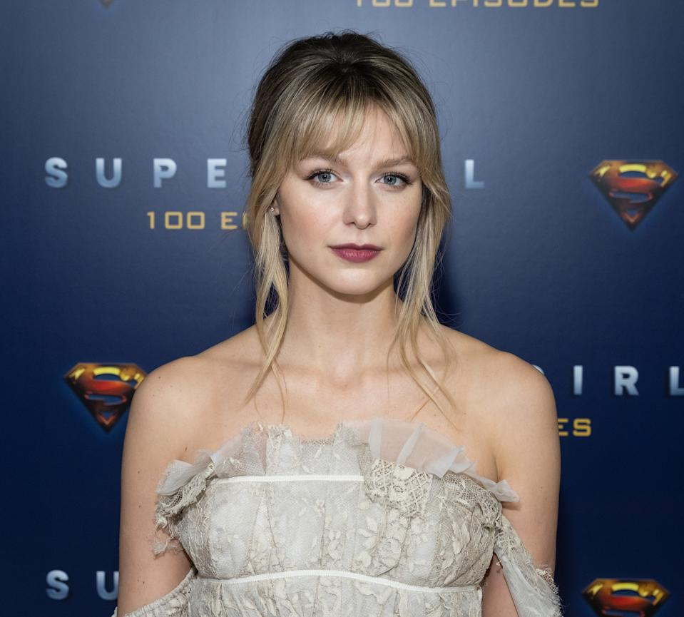 VANCOUVER, BC - DECEMBER 14: Supergirl star Melissa Benoist attends the red carpet for the shows 100th episode celebration at the Fairmont Pacific Rim Hotel on December 14, 2019 in Vancouver, Canada. (Photo by Phillip Chin/Getty Images for Warner Brothers Television)