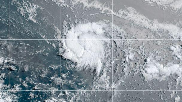 PHOTO: This satellite image shows Tropical Storm Gonzalo, July 22, 2020. (NOAA)