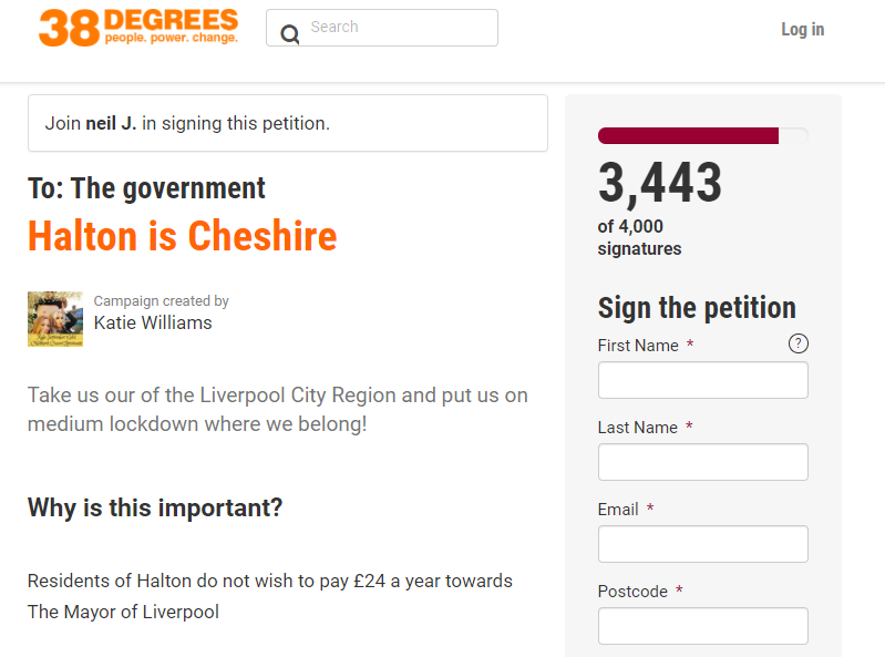 The petition has been signed thousands of times