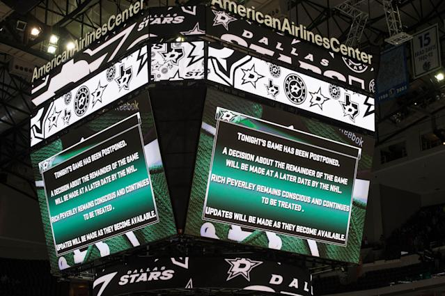 Blue Jackets, Dallas Stars game postponed for Rich Peverley incident rescheduled