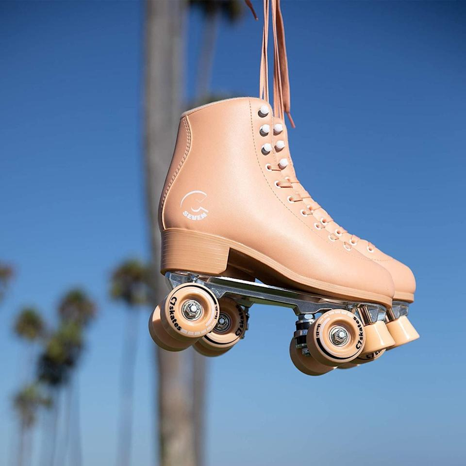 <p>They'll want to use these <span>C Seven Cute Roller Skates</span> ($120) all the time.</p>