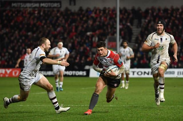 Louis Rees-Zammit has been in fine form for Gloucester (Ashley Western/PA)