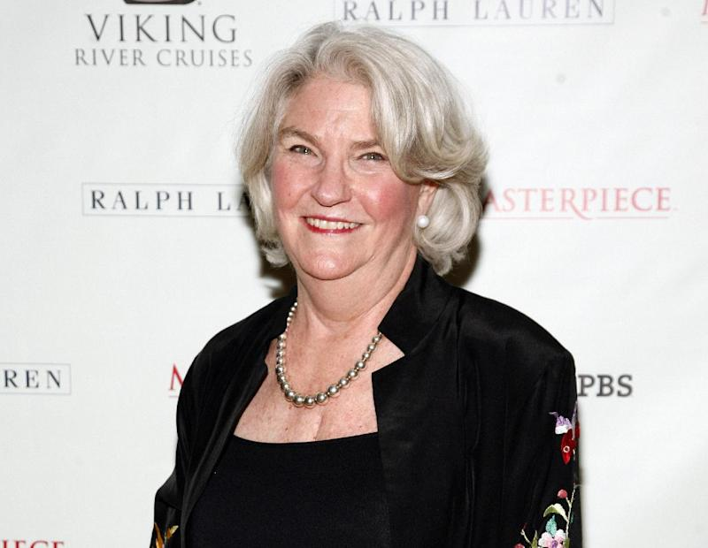 """FILE - This Dec. 12, 2012 file photo shows PBS Executive Producer Rebecca Eaton attending a """"Downton Abbey"""" photo call, at the Essex House in New York. Eaton has a deal with Viking for """"Making Masterpiece: 25 Years Behind the Scenes of Masterpiece Theatre and Mystery!""""  The publisher announced Wednesday, April 10, 2013, that the book will come out Oct. 29. Patricia Mulcahy will co-write """"Making Masterpiece."""" (Photo by Andy Kropa/Invision/AP, file)"""