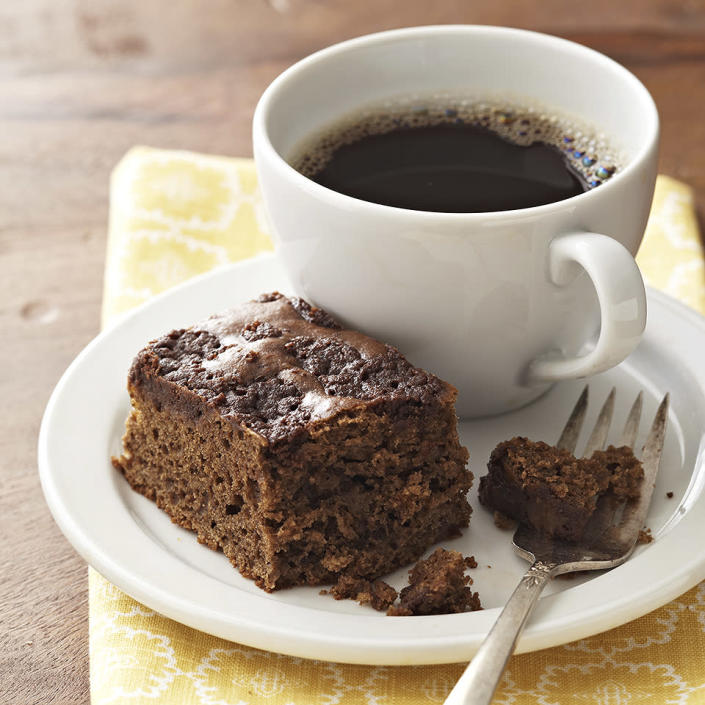 <p>A sweet topping of cocoa powder and cinnamon is baked right into this delicious mocha coffee cake.</p>